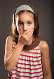 Little surprised girl Royalty Free Stock Images