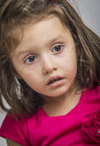Little surprised/scared girl Stock Photos