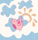 Little sweet flying bird. Vector illustration Stock Photos
