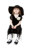A little sweet girl felt hat Royalty Free Stock Photography