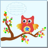 Little sweet owl message Royalty Free Stock Image
