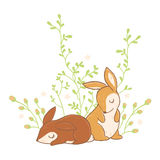 Little sweet rabbits. Royalty Free Stock Photos