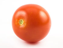 Little, sweet, red, cherry tomato on a white background Stock Images