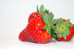 Little sweet red. Fresh strawberry on a white background Royalty Free Stock Images