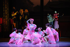 Little sweetheart-The Pink Maid-The first act of dance drama-Shawan events of the past. Guangdong Shawan Town is the hometown of ballet music, the past focuses Stock Image