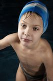 Little swimmer royalty free stock photo