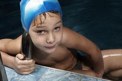 Little swimmer Stock Photos
