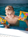 Little swimmer boy Royalty Free Stock Images