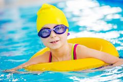 Little Swimmer in the Pool Royalty Free Stock Photography