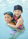 Little Swimmers Stock Images