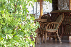 Little table in cafe Royalty Free Stock Photography