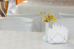 Little table in cafe Stock Image