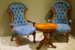 Little table and two armchairs Royalty Free Stock Photo