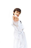 Little tae kwon do boy martial art Royalty Free Stock Photos