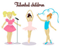 Little talented girls set Stock Photography