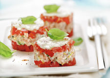 Little tart made of shrimps Royalty Free Stock Photos