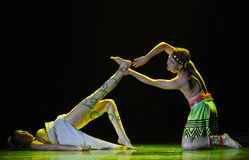 Little taste-Tree wrapped rattan-The national folk dance Stock Photos