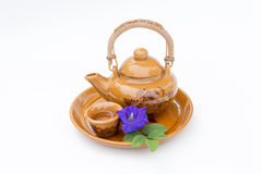 Little tea cup and pot. Little tea cup and tea pot Royalty Free Stock Photography