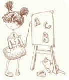 Little teacher Stock Image