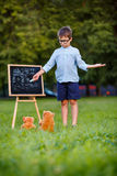 Little teacher - lesson Royalty Free Stock Photography