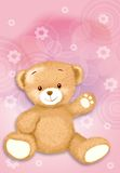 Little teddy bear. By Freehand drawing stock illustration