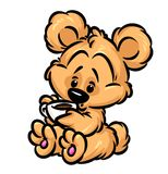 Little teddy-bear coffee Royalty Free Stock Photo