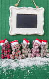 Little teddybears with Santa hats Royalty Free Stock Photos