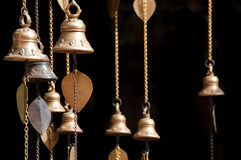 Little temple bells Stock Images
