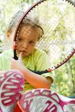 Little tennis player Stock Photos