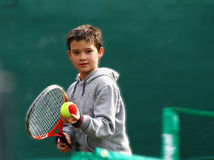 Little tennis player Royalty Free Stock Photo