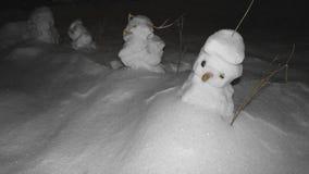 Little terrible snowmen royalty free stock photos