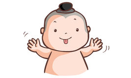 Little Thai boy make a wry face Stock Images