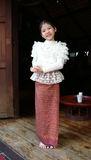 Little thai girl in a traditional costume Royalty Free Stock Photos