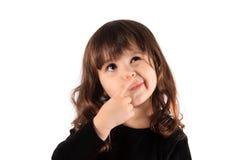 Free Little Thinking Girl Stock Image - 17129401