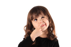 Little thinking girl Stock Photography