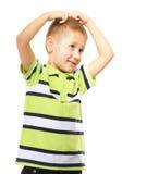 Little thoughtful boy child portrait Royalty Free Stock Photo