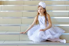 Little thoughtful girl Royalty Free Stock Photography