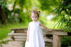 Little thoughtful toddler girl Royalty Free Stock Photo