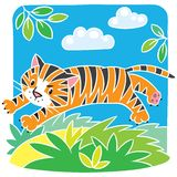 Little tiger coloring book Stock Photos