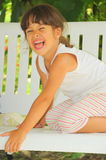 Little tiger (laughing girl portrait) Royalty Free Stock Images