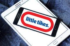 Little Tikes toy manufacturer logo. Logo of Little Tikes toy manufacturer on samsung mobile. Little Tikes is an American-based manufacturer of children`s toys stock photos