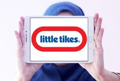 Little Tikes toy manufacturer logo. Logo of Little Tikes toy manufacturer on samsung tablet holded by arab muslim woman. Little Tikes is an American-based royalty free stock photo