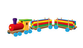 Free Little Timber Train Stock Photography - 67501762