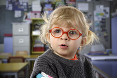 Little todder with glasses royalty free stock images
