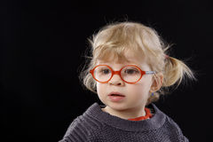Little todder with glasses Stock Image