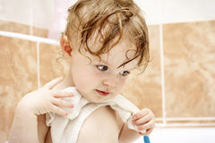 Little toddler in the bath Stock Photography