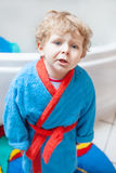Little toddler boy after taking a bath. Adorable little toddler boy after taking a bath in bathtub Stock Image