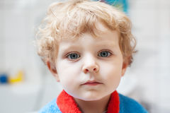 Little toddler boy after taking a bath. Adorable little toddler boy after taking a bath in bathtub Royalty Free Stock Photo