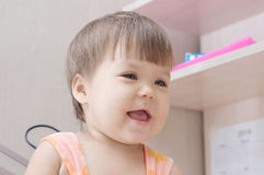 Little toddler girl happy smiling Royalty Free Stock Photos