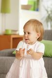 Little toddler girl having fun at home Royalty Free Stock Photography